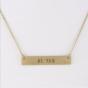 [Be You] Dainty Bar Necklace
